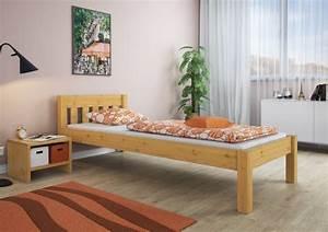 Massivholzbett Kiefer Natur 80x200 Jugendbett Real