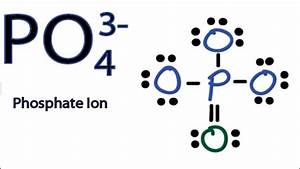 Po4 3- Lewis Structure  How To Draw The Lewis Structure For Po43-