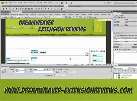 Using Dreamweaver Extension Create Xml Site Map