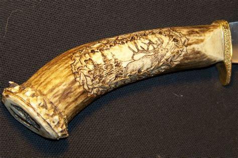 metal glass antler bone custom gun stock carving