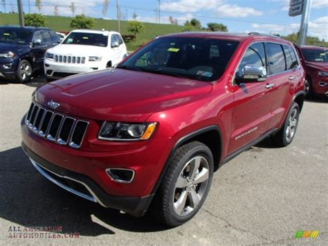 jeep cars red 2014 jeep grand cherokee limited 4x4 in deep cherry red