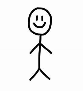 Happy Stick Figure Clipart Clip Art Of Stick Figures  1278