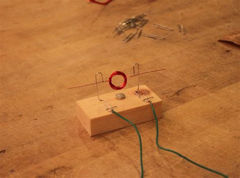 how to make a simple motor creating the copper wire coil