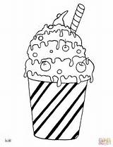 Coloring Pages Milk Cocktail Sheets Pancake Printable Ice Cream Desserts Housework Sheet Supercoloring sketch template