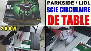 Scie Circulaire Sur Table Parkside Ptk 2000 Lidl Scheppach