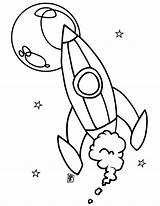 Rocket Coloring Ship Moon Print Drawing Space Star Spaceship Pages Rockets Getdrawings Wars sketch template