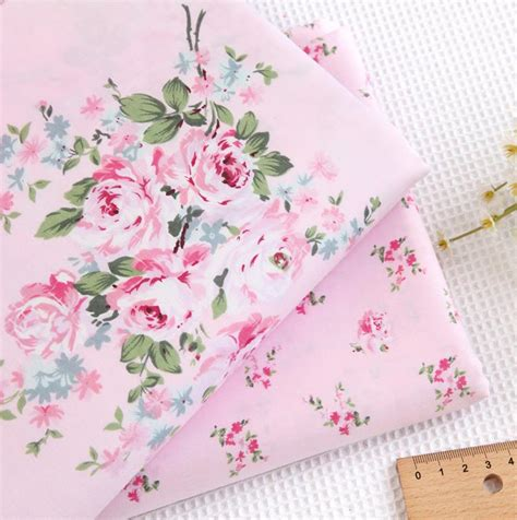 shabby chic fabric roses 1 meter floral roses pink 100 cotton fabric shabby chic cottage fabric ebay