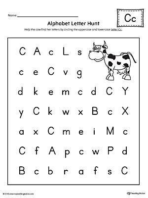 Letter Recognition Worksheets Letter C #88065  Worksheets Library