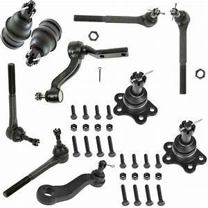 Front Ball Joint Tie Rod End Pitman Idler Arm Kit For
