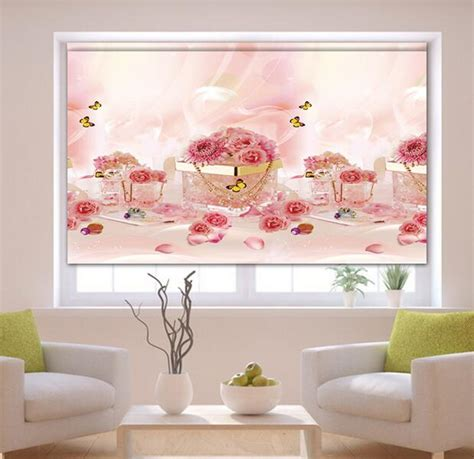 free shipping thermal window lovely flower patterned