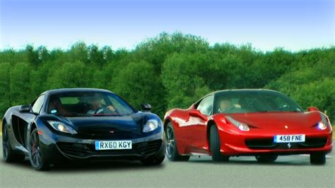 Mclaren Mp4 12c Vs 458 by Mclaren Mp4 12c Vs 458 Italia Fifth Gear