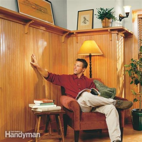 Installing Tongue And Groove Wainscoting by How To Install Wainscoting The Family Handyman