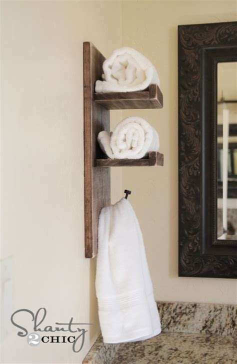 super cute diy towel holder shanty  chic