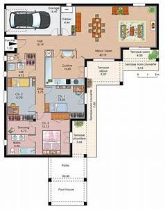 exemple plan maison plain pied maisons pinterest With exemple de plan de maison