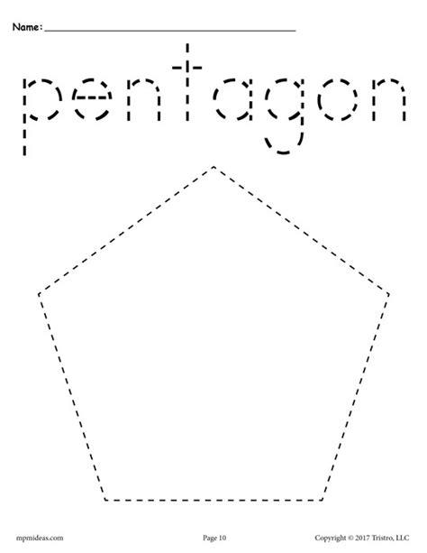 Free Pentagon Tracing Worksheet  Printable Tracing Shapes Worksheets