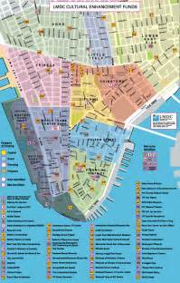 Manhattan Neighborhood Map with Streets