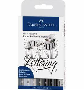 colour pencil polychromos tin of 120 With faber castell hand lettering kit