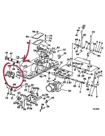 ih  tractor top link bracket farmall