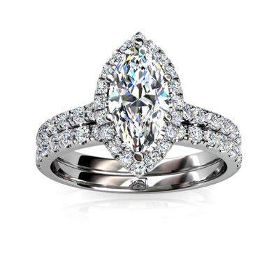 halo wedding ring set marquise halo engagement ring wedding set engagement rings review