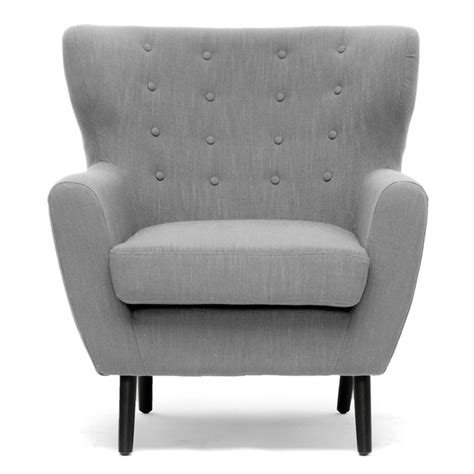 light grey linen modern club chair free shipping