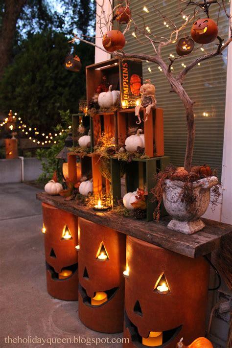 Home Depot Outdoor Pumpkin Luminaries Halloween Style