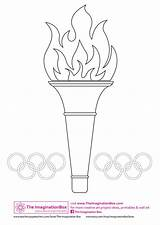 Olympics Torch Olympic Games Crafts Special Winter Coloring Template Craft Colouring Paper Gymnastics Mosaic Theimaginationbox Preschool Summer Decorate Antorcha Rings sketch template
