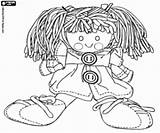 Doll Coloring Rag Shoes Pages Games Toys Toy sketch template