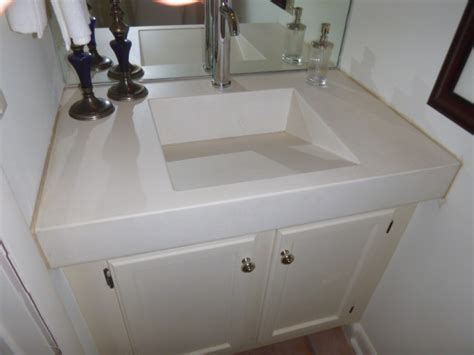 cast  place concrete counters ramp sink slot drain