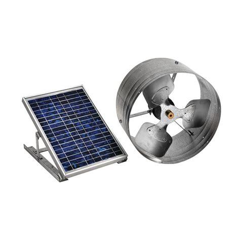 Master Flow 500 Cfm Solar Powered Gable Mount Exhaust Fan