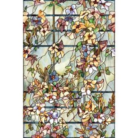 artscape 24 in x 36 in trellis decorative window film 01