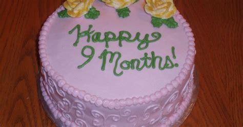 happy  month anniversary month anniversary cake