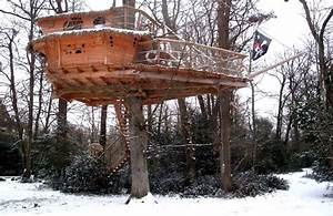 Cabane Dans Les Arbres Construction : la cabane des moussaillons une cabane dans les arbres pour toute la famille ~ Mglfilm.com Idées de Décoration