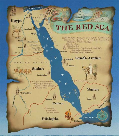 red sea  egypt map
