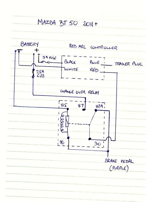 Mazda Tribute Trailer Wiring Diagram by Bt 50 Brake Controller Wiring Diagram Ute 4x4 Project