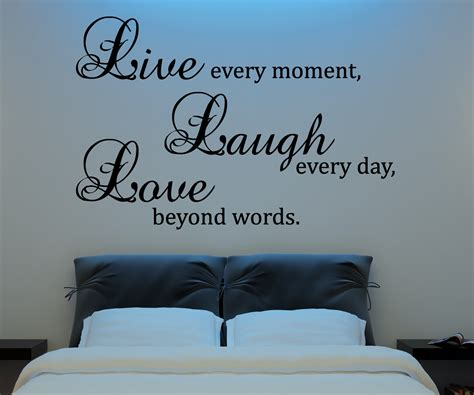 laugh love wall decal vinyl sticker quote art living