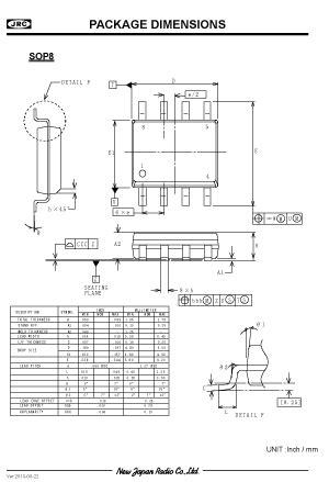 SOP8 | Package Outline / Emboss Taping / Plastic Tube
