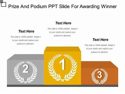 Podium Ppt Prize Winner Slide Presentation Awarding