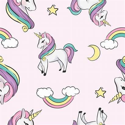 Unicorn Cartoon Illustration Seamless Pattern Vector Clipart