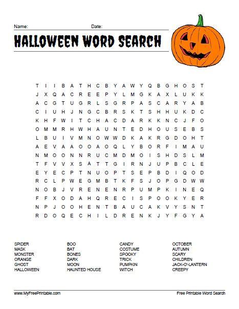 halloween word search free printable myfreeprintable com