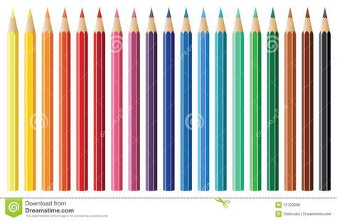 Nineteen Pencils Stock Vector Illustration Of Black