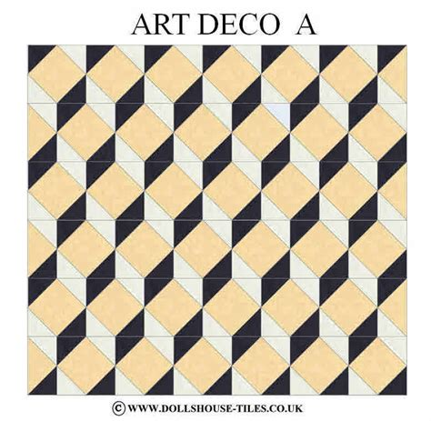 deco flooring dolls house miniatures dolls house tiles flooring art deco floor pack ebay