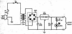 5 Volt Power Supply  7805  Circuit Diagram World