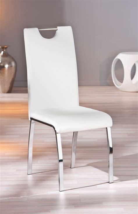 chaise de salle à manger design chaise design de salle à manger coloris blanc lot de 2