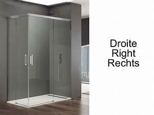 Paroi de douche accessoires largeur 80 longueur 80 140 for Porte douche coulissante 80 cm