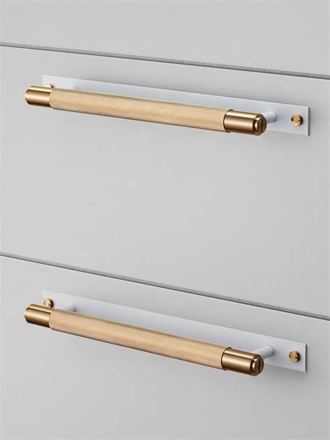 Brass Kitchen Hardware Uk by Cabinet Pull Bar Brass Matt White Buster Punch
