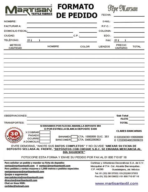 Formato De Pedido En Contabilidad hairstylegalleries.com