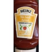 Heinz Tomato Ketchup, No Salt Added: Calories, Nutrition ...