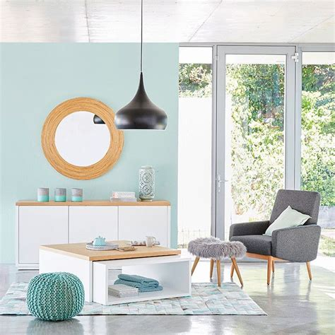 Decoration Salon Maison Du Monde D 233 Co Salon Maisons Du Monde Ton Bleu Vert Pastel