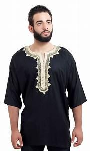 Moroccan Shirt Black|Men Shirt | Moroccan Clothing