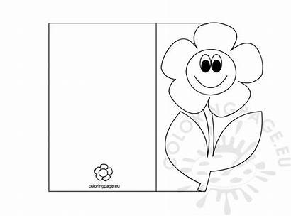 Coloring Card Pages Mothers Mother Cards Printable